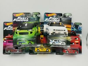Hot Wheels Premium Fast & Furious Original Fast Complete Set of 5