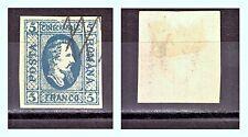 "ROMANIA: 1865 Sc: RO-23 ""Alexandru Ioan - Cuza"" 5 PARALE. Used $275"