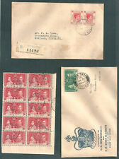 HONG KONG KGVI 15c with flaw cat by SG short character 3rd down on left + 4c FDC