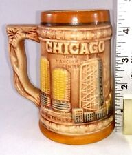CHICAGO Vintage 3-D WINDY CITY Ceramic Mug Stein Cup Japan 12oz Sears Tower