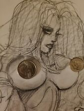 Simon Bisley Original Artwork Side View Nude Babe #2 Pencil Drawing 1 of a kind