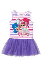 Nickelodeon Shimmer And Shine Toddler Girl's Sleeveless Tutu Dress Size 3T NWT