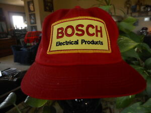 Bosch Electrical Products Red Vintage Snap back Hat Cap Vented Old School