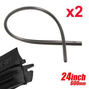 2PCS 24'' 6mm Car Bus Silicone Universal Frameless Windshield Wiper Blade Refill