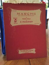 Marche, Love of the Three Oranges piano solo, 1936 vintage sheet music