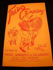Partitur Fredo Czardas Gardoni Garten Music -blatt