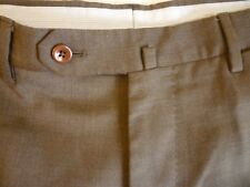 INCOTEX Super 100s High Comfort Wool Pants 34x32 Brown Great Condition