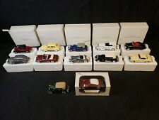 Lot of 12 Signature Models 1:32 National Motor Museum Mint Cadillac Duesenberg