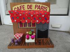Jolie tirelire en bois Café de Paris 11,3x11,3x11,3 cm neuve