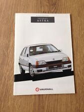 1991 Vauxhall Astra Brochure