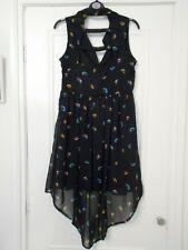 Primark navy blue bird print dress -  Size 10 - BNWT