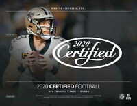 2020 PANINI CERTIFIED FOOTBALL - FACTORY SEALED HOBBY BOX - PRE SALE -