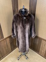 ZUKI MADE IN CANADA VORWOLD FURS PHANTOM SHEARED BEAVER FUR COAT JACKET 8 - 10