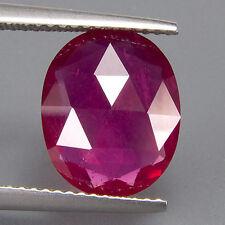 Ovale natürliche Rubine mit Bleiglas Gefüllt - ()