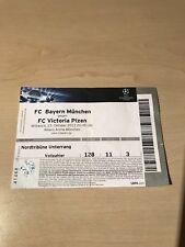 FCBayern München -FC Victoria Pilsen UEFA CL 2013 Eintrittskarte Ticket