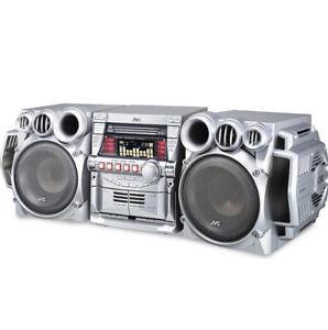 VTG 2004 Deadstock JVC MX-GB5 460W Mini System Dual Amp CD Dual Cassette Bass