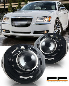 2011-2014 Chrysler 300 Clear Lens Replacement Fog Lights Housing Assembly Pair