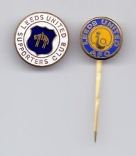 2 enamel pins pin badge anstecknadel football FC Leeds United England