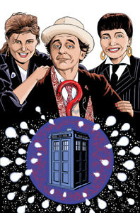 Doctor Who Art Print The 7th Doctor, Ace and Bernice Summerfield by Scott Gray