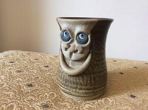 Vintage Muggins Pottery Ugly Face mug 1975