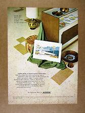 1965 Azrock Asbestos Floor Tile Britts Department Store Alhambra CA print Ad