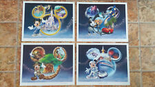 Disney 4 Park Collector Set - Certificate Authenticity - 4 Drucke Disney Parks