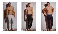 Herren Unterhose lang weiß schwarz blau Gr. M 5, L 6, XL 7 Baumwolle NEU!