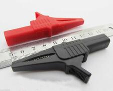 10pcs 1000v 32a Battery Alligator Kelvin Test Clip To 4mm Banana Jack 2 Colors
