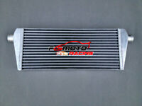 "Universal Turbo Front Mount Aluminum Intercooler 235x550x45mm Tube & Fin 2"" pipe"