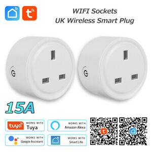 5PC Smart WIFI UK Plug Socket Power Switch APP Control Timer Amazon Alexa/Google