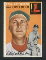 1954 Topps #217 Paul Schreiber EXMT/EXMT+ RC Rookie Red Sox CO 80092