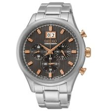Seiko SPC151P1 Brown Dial Gold Button Stainless Steel Men's Chronograph Watch