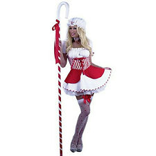 Adult Sexy Little Bo Peep Red and White Adult Costume Size XS 3-5