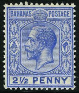 SG 84 BAHAMAS 1912 - TWOPENCEHALFPENNY ULTRAMARINE - MOUNTED MINT