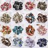 Lady Womens Girls Hair Scrunchies Bobbles Elastics Hair Scrunchy Floral Bun Ring