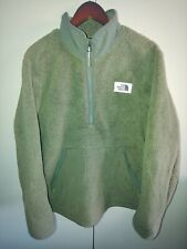 The North Face Mens Army Green Pullover Sweater Super warm Must Have SHIPS FAST
