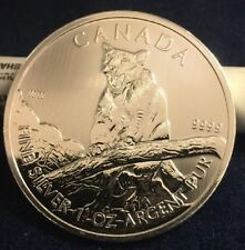 2012 Canadian Wildlife Cougar Silver 1 oz dollar $5 coin BU