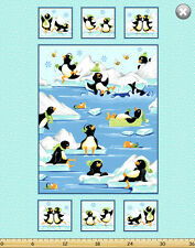 Susybee GWYN, the PENGUIN Panel Quilt Fabric ~ Susybee #20235-930