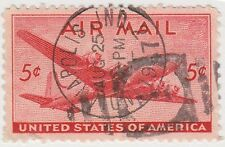 (UST-23) 1941 USA 5c red mail plane Air mail (J)