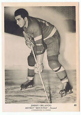 1939-40 O-Pee-Chee V301-1 Jimmy Orlando # 65 Detroit Red Wings (5 x 7 card) NrMt