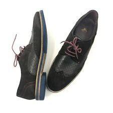 TED BAKER Cauxx Brown Suede Brogue Derby Oxford Lace Up Mens US 13 EU 46 UK 12