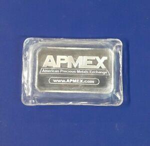 APMEX Five (5) Troy Ounces Silver Bar .999 Fine, Sealed