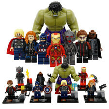 8pcs/Lot Marvel The Avengers Heroes Age of Ultron Hulk Iron Man For LEGO