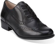 Clarks Ladies Lace-up Shoes HAMBLE OAK Black Leather UK 6 / 39.5