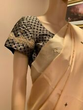 Crepe Silk Saree with ready to wear Stitched Blouse