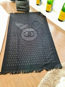 Chanel Towel Blanket Throw Cushion Poncho Pillow Sport Beach Swim Slipper Bag