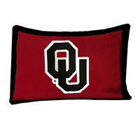 NCAA Oklahoma Sooners Pillow Sham -  College Football Cotton Sateen Pillow Cover