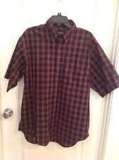 ROUNDTREE & YORKIE BUTTON-UP SHIRT - SIZE L