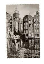 Netherlands - Amsterdam, Oudezijds Voorburgwal - Vintage Real Photo Postcard