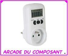 1 COMPTEUR D'ENERGIE WATTMETRE 16A 230V TERRE FRANÇAISE (REF 16025-1) Poids 500g